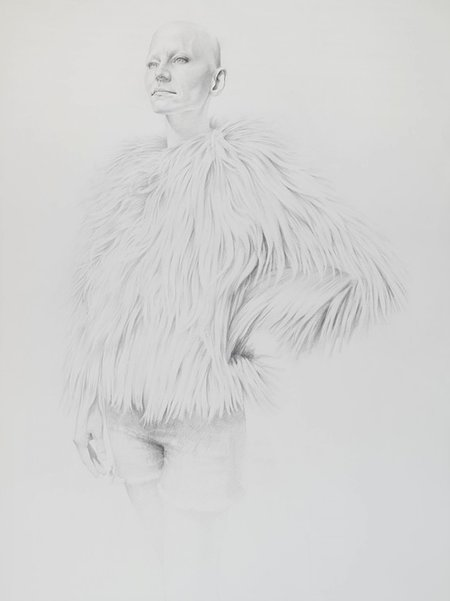 Girl in Hairy Coat